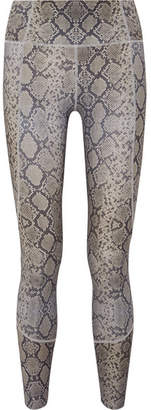 Varley - Bedford Snake-print Leggings - Gray
