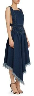 Marques Almeida Marques'Almeida Marques'Almeida Women's Denim A-Line Apron Handkerchief Dress - Stone Wash - Size XS