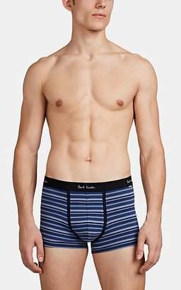 Paul Smith Men's Striped Stretch-Cotton Boxer Briefs - Blue