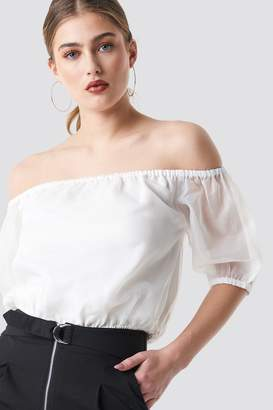 Na Kd Party Off Shoulder Puff Sleeve Top Black