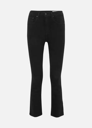 Rag & Bone Hana Cropped High-rise Bootcut Jeans - Black