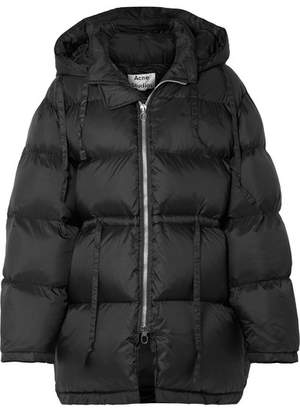 Acne Studios Oversized Hooded Quilted Shell Down Jacket - Black