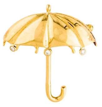 Tiffany & Co. 18K Umbrella Brooch