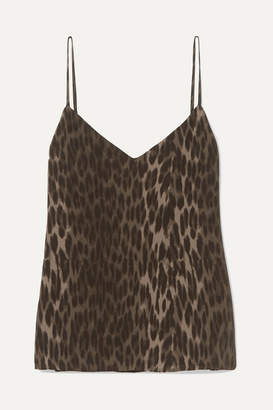 L'Agence Jane Leopard-print Silk Crepe De Chine Camisole - Leopard print