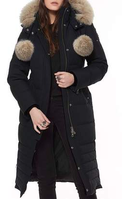 Moose Knuckles Bridle Path Down Parka with Genuine Fox Fur Trim
