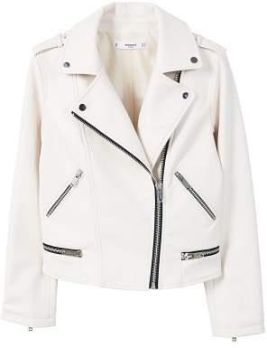MANGO AppliquAA biker jacket