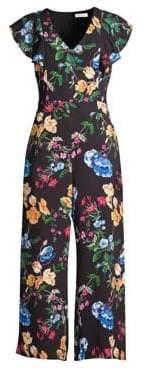 Parker Women's Tommi Combo Print Jumpsuit - Black Calla - Size 0