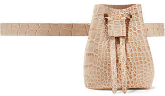 Nanushka - Minee Croc-effect Leather Belt Bag - Cream