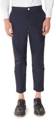 Thom Browne Men's Tricot Side Stripe Chino Pants