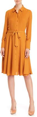 Nanette Lepore Nanette Chiffon Belted Shirtdress