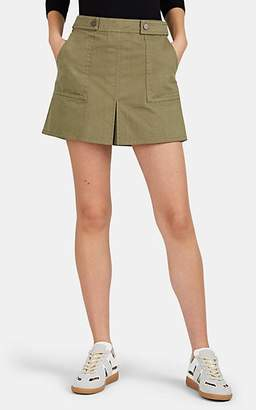 FiveSeventyFive Women's Sloan Herringbone-Weave Cotton Miniskirt - Green