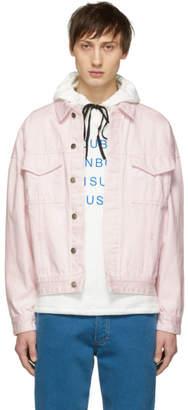 Double Rainbouu Pink Denim Oversized Double Jacket