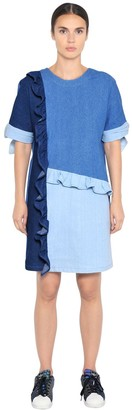 SteveJ & YoniP Cotton Denim Patchwork Dress