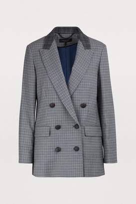Rag & Bone Ellie checked blazer jacket