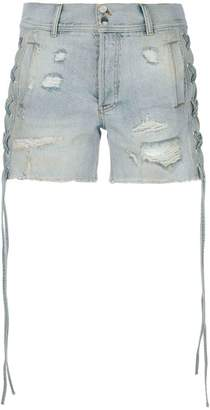 Faith Connexion distressed denim shorts