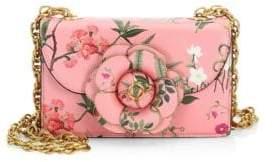 Oscar de la Renta Women's Tro Flower Leather Crossbody Bag - Pink Multi