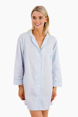 Marigot Collection Arctic Blue Stripe Nightshirt