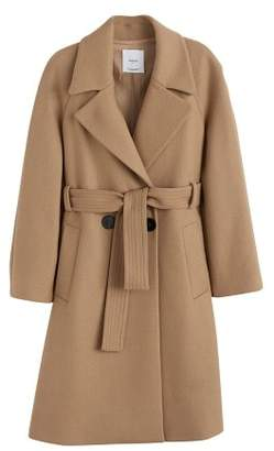 MANGO Structured wool coat