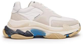 Balenciaga Triple S Low Top Trainers - Womens - White