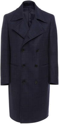 EIDOS Plaid Double-Breasted Officer's Coat