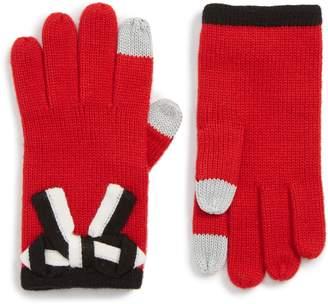 Kate Spade Bow Applique Gloves