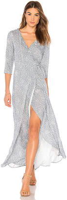 AUGUSTE Edie Sweetheart Wrap Maxi Dress