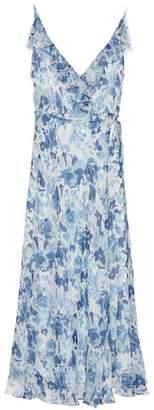 Polo Ralph Lauren Floral-printed silk midi dress