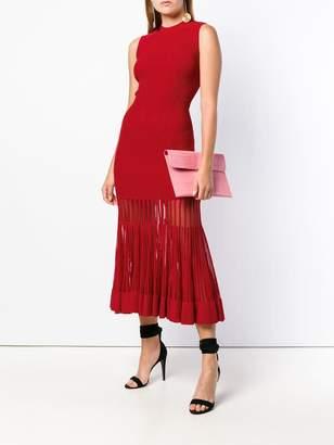 Alexander McQueen sleeveless ribbed knit dress