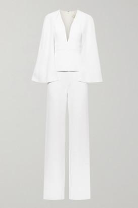 Cushnie - Cape-effect Stretch-crepe Jumpsuit - White