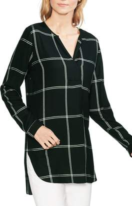 Vince Camuto Windowpane Plaid Tunic