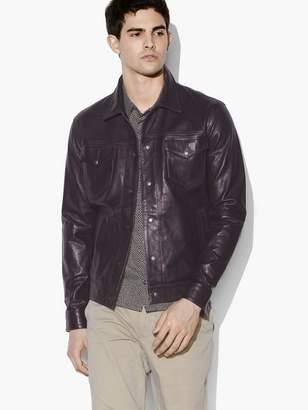 John Varvatos Tristan Leather Trucker Jacket