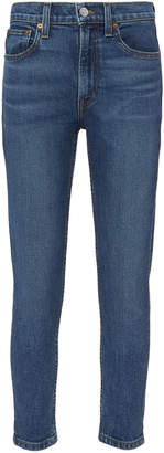 RE/DONE Comfort Stretch High-Rise Ankle Crop Jeans