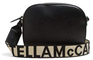 Stella McCartney Logo Faux Leather Cross Body Bag - Womens - Black
