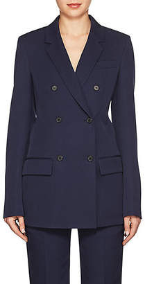 Calvin Klein Women's Wool Gabardine Double-Breasted Blazer - Navy