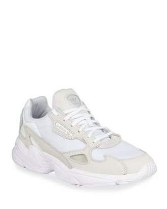 adidas Falcon Leather/Mesh Lace-Up Sneakers