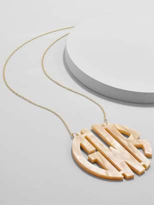 BaubleBar Extra Large Acrylic Block Monogram Necklace