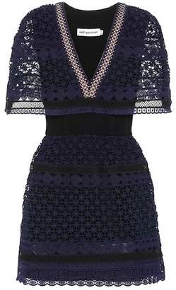 Self-Portrait Guipure lace mini-dress