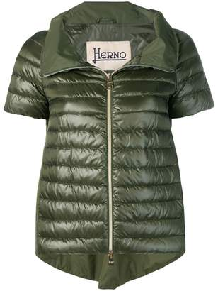 Herno short sleeve padded jacket