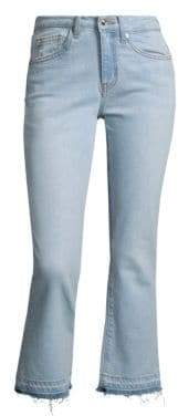 Derek Lam 10 Crosby Women's DENIM Gia Cropped Flared Jeans - Super Light Wash - Size 25 (2)