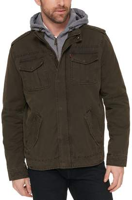 Levi's Levis Men's Hooded Military Trucker Jacket