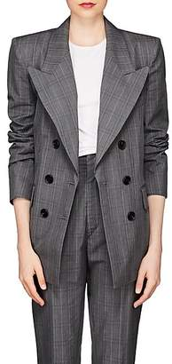 Etoile Isabel Marant Women's Iliane Checked Cotton-Blend Blazer - Gray