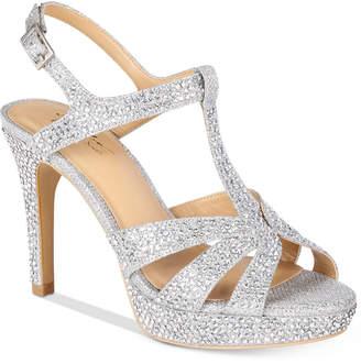 Thalia Sodi Verrda2 Embellished Platform Dress Sandals, Women Shoes