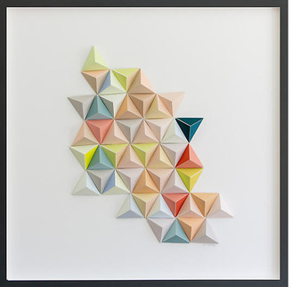 Dawn Wolfe Design Dawn Wolfe - Pastel Origami Abstract Art