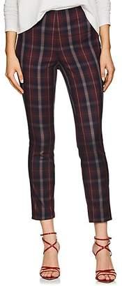 Rag & Bone Women's Simone Checked Cotton-Blend Pants - Wine