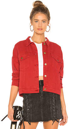 MinkPink Ignite Cropped Trucker Jacket.