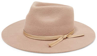 LACK OF COLOR The Zulu Grosgrain-trimmed Wool-felt Fedora - Tan