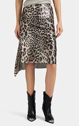 Paco Rabanne Women's Leopard Metal-Mesh Skirt - Brown