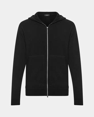 Theory Cashmere Hooded Zip Sweater