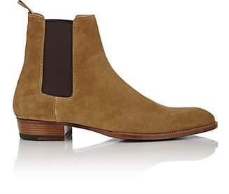 Saint Laurent Men's Suede Hedi Chelsea Boots - Beige, Tan