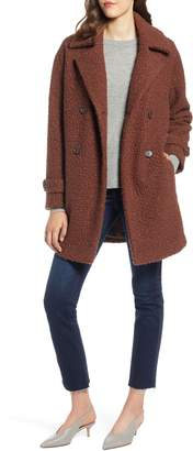 Halogen Double Breasted Boucle Coat